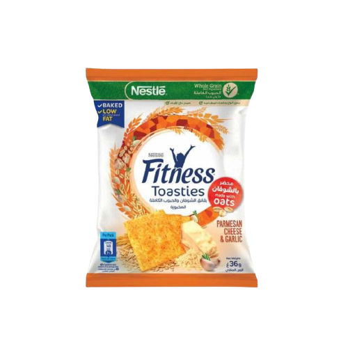 Nestlé Fitness Toasties Parmesan Cheese & Garlic 36g