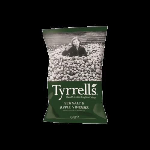 Tyrrell's Sea Salt and Apple Vinegar English Crisps 150g