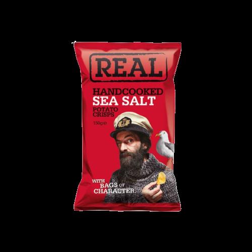 Real Handcooked Potato Crisps Sea Salt 150g