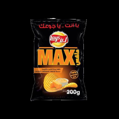Lay's Max Creamy Cheddar Potato Chips 200g