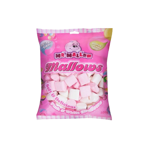 Mr. Mallows Pink And White Marshmallows 500g