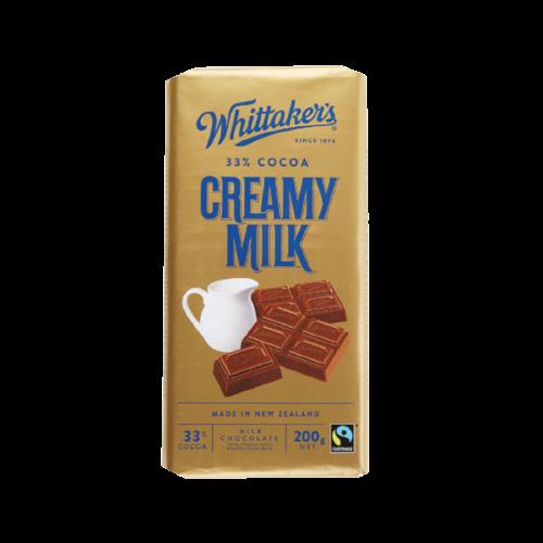 Whittaker's Creamy Milk Chocolate Bar 200g