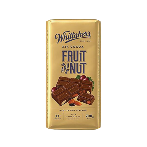 Whittaker's Fruits And Nuts Chocolate Bar 200g