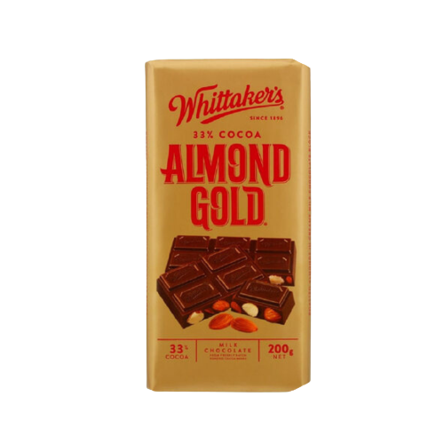 Whittaker's Almond Gold Chocolate 200g
