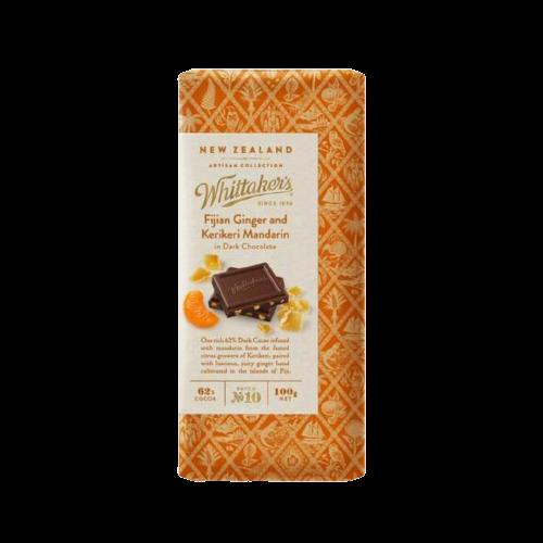 Whittaker's Fijian Ginger And Kerikeri Mandarin Dark Chocolate 100g