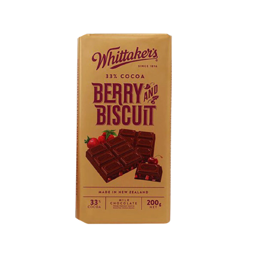 Whittaker's Berry And Biscuit Chocolate 200g