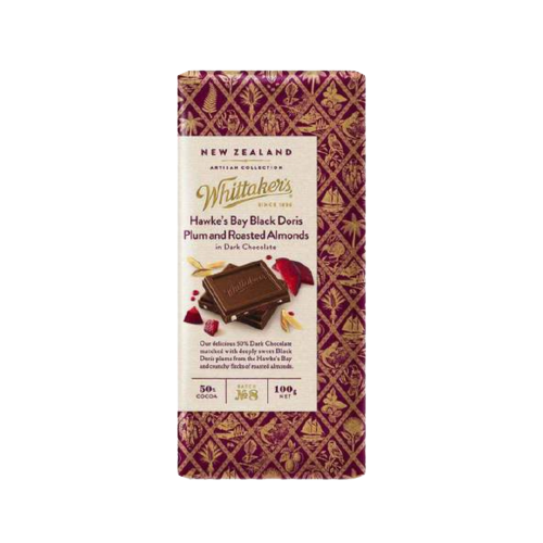 Whittaker's Hawke's Doris Plum and Roasted Almonds 100g