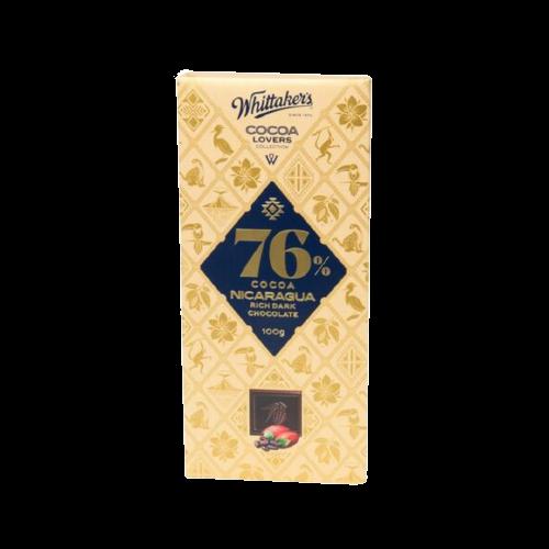 Whittaker's Cocoa Nicaragua Rich Dark Chocolate 100g