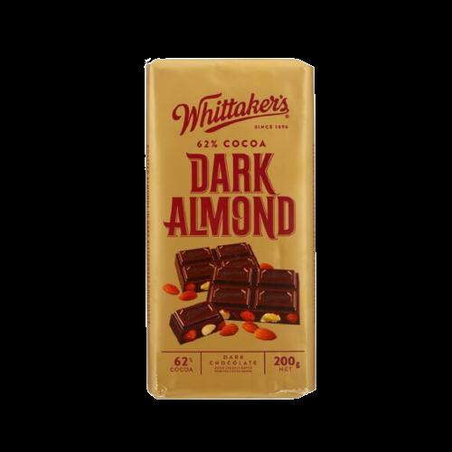 Whittaker's Dark Almond Chocolate 200g