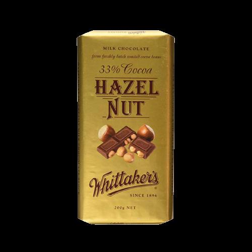 Whittaker's Hazelnut Block Milk Chocolate Bar 200g