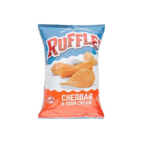 Ruffles Potato Chips - Cheddar & Sour Cream 182g