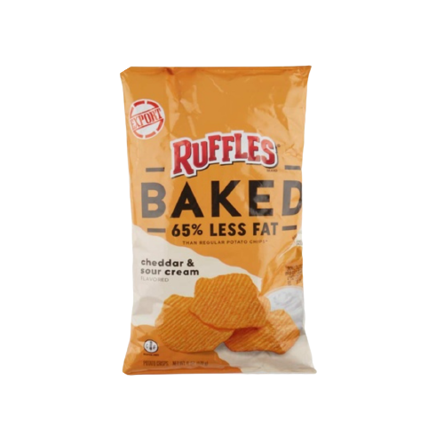 Ruffles Baked Cheddar And Sour Cream Potato Chips 170g