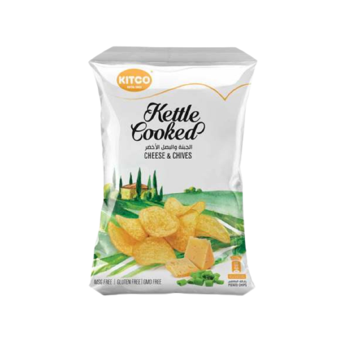 Kitco Kettle Cooked Cheese & Chives 150g